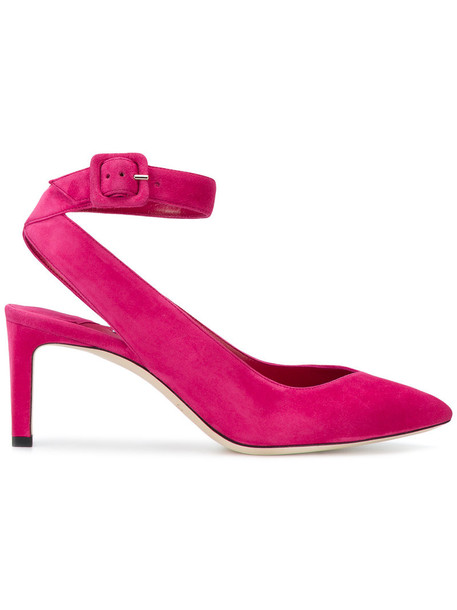 Jimmy Choo women pumps leather suede purple pink shoes