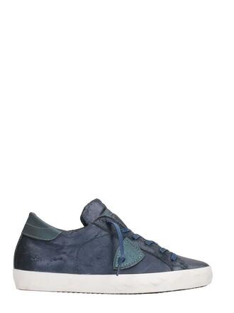 paris sneakers leather blue shoes