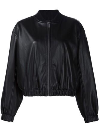 jacket bomber jacket oversized black