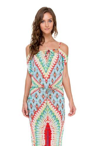 dress cap sleeve long maxi maxi dress print bikiniluxe