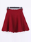 Solid color red high waisted stretch skirt with back zip