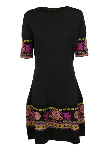 ETRO dress shift dress embroidered black