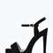 Emily suedette ankle strap platform heels