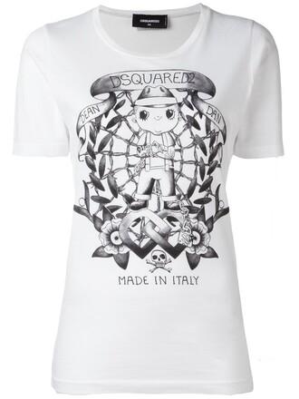 t-shirt shirt long women tattoo white cotton top