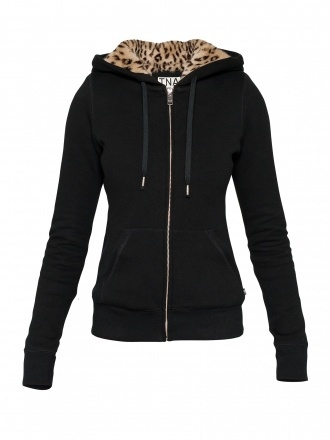 jacket black leapord print fluffy sweater winter outfits zip-up zipper jacket