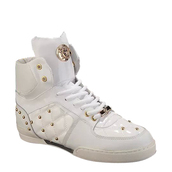 shoes,versace white quilted patent leather high-top sneakers