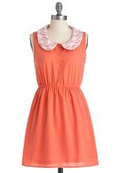 dress,peach,peach dress,peter pan collar,peter pan collar dress,lace,pretty