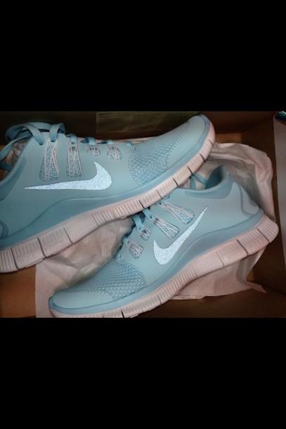 Womens Nike Free Run  Tiffany Blue Running Shoes