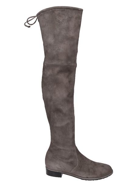 STUART WEITZMAN drawstring grey shoes
