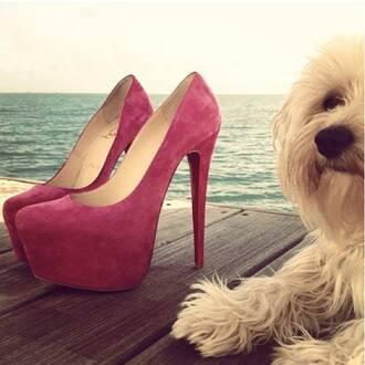 shoes heels high heels red elegant sea of shoes