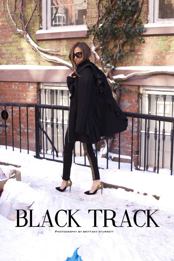 something navy sweater coat sunglasses shoes jeans bag