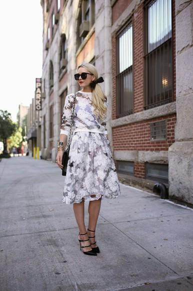 atlantic pacific shoes bag top skirt blogger