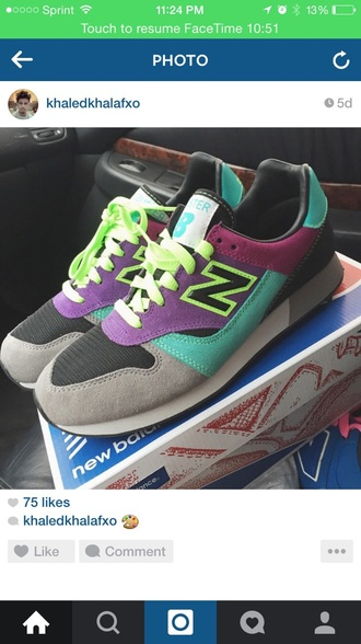 shoes grey pink turquoise purple cute new balance sneakers new balance