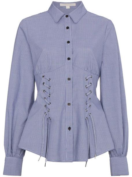 Jonathan Simkhai shirt women lace cotton blue top
