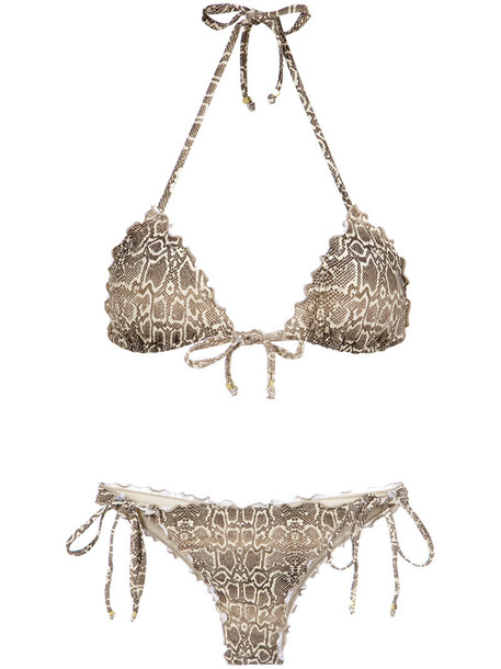 AMIR SLAMA bikini women python nude print swimwear