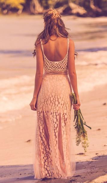 62777c4cdc dress maxi beach beach dress beach maxi summer summer dress low back low  back maxi pink
