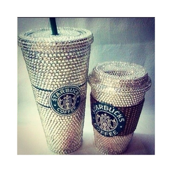 Bedazzled Blinging Starbucks Cup Traveller By Craftbysanah