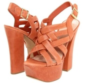 shoes,platform shoes,orange,spring summer 2014,coral