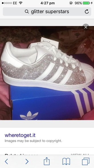 shoes adidas superstar silver glitter trainers glitter superstars