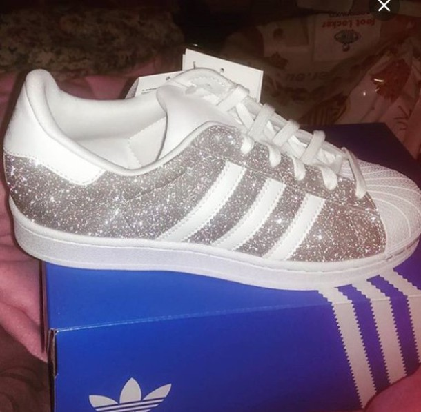adidas superstar dames wit glitter