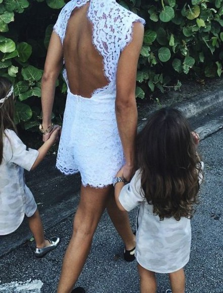 backless romper lace