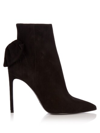 boot paris suede black shoes