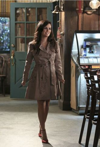 coat trench coat rachel bilson hart of dixie