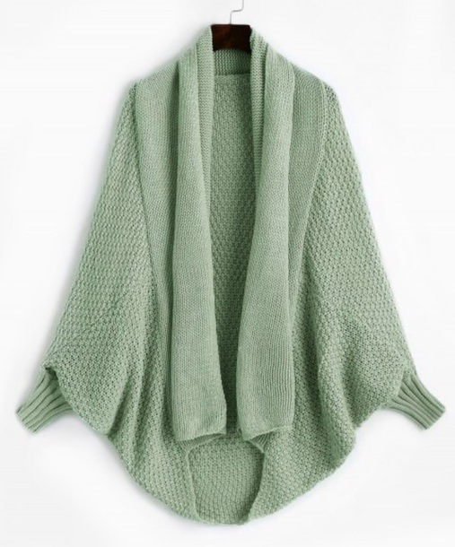 cardigan girly green knit knitwear knitted cardigan oversized cardigan long long cardigan
