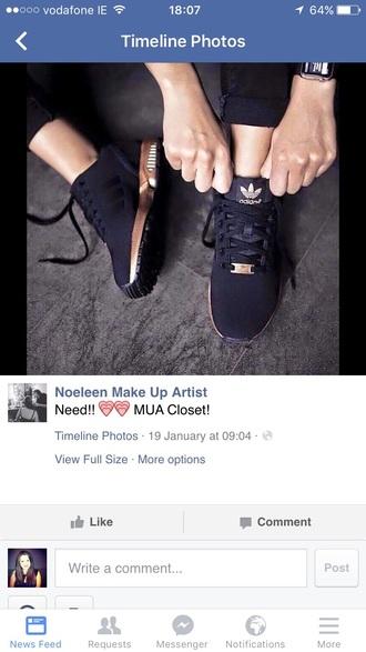 shoes black trainers black black shoes trainers adidas adidas shoes rose gold gold