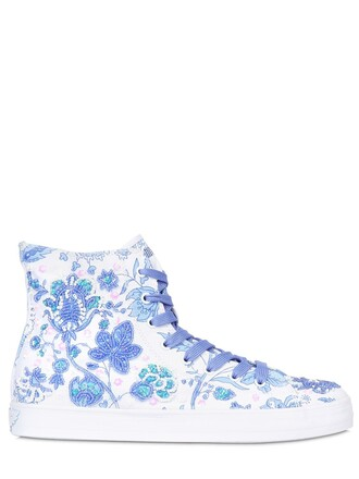 sneakers. embellished sneakers white blue shoes