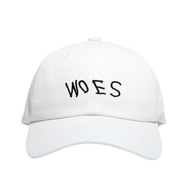 e2d88447f67 hat woes cap dad strapback cap dad hat street drake god white baseball cap  strapback hat