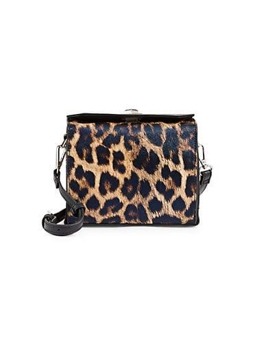 Design Lab Women's Mini Boxy Crossbody Bag - Leopard