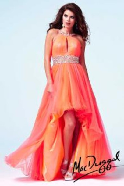 dress mac duggal mac duggal 2014 pron dress neon orange