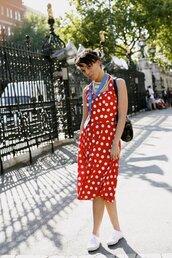 polka dots,dress