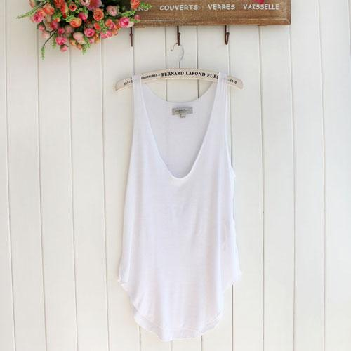 Fashion summer woman lady sleeveless v neck candy vest loose tank tops t shirt