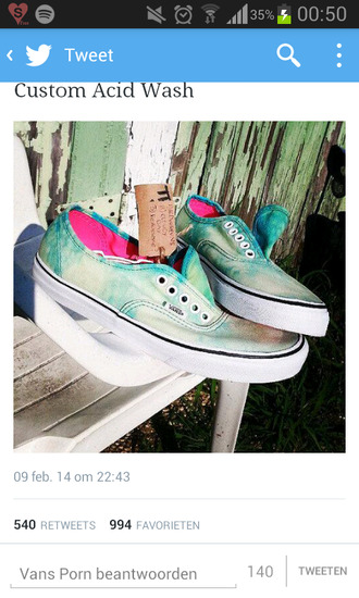 shoes vans vans sneakers printed vans acid wash acid washed custom custom shoes green pink sneakers trainers nike adidas converse