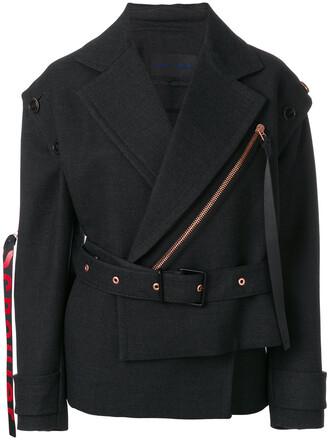 jacket women silk wool grey
