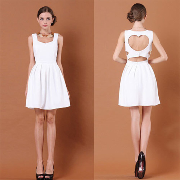 dress love heart sleeveless