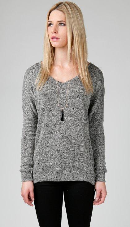 Neck zippered top