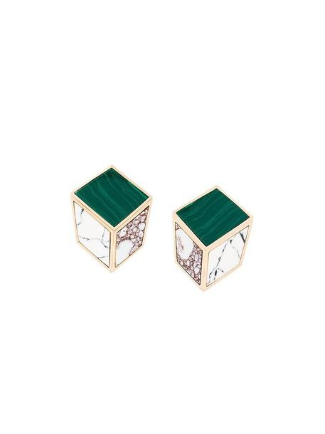 ESHVI women earrings gold green jewels