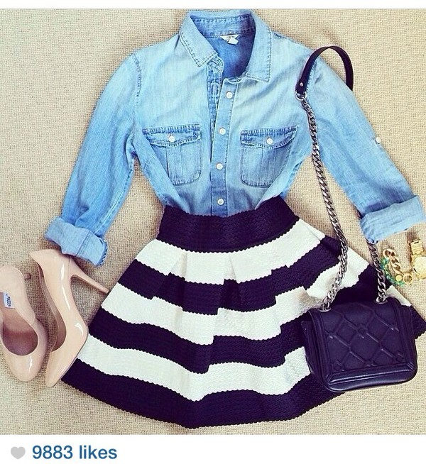 skirt striped skirt