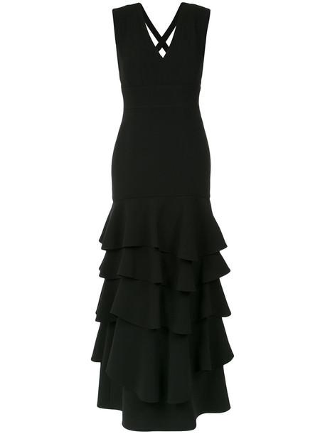 Olympiah gown women spandex black dress