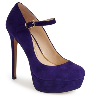 shoes pumps purple blue pinup shoes   heels platform pumps
