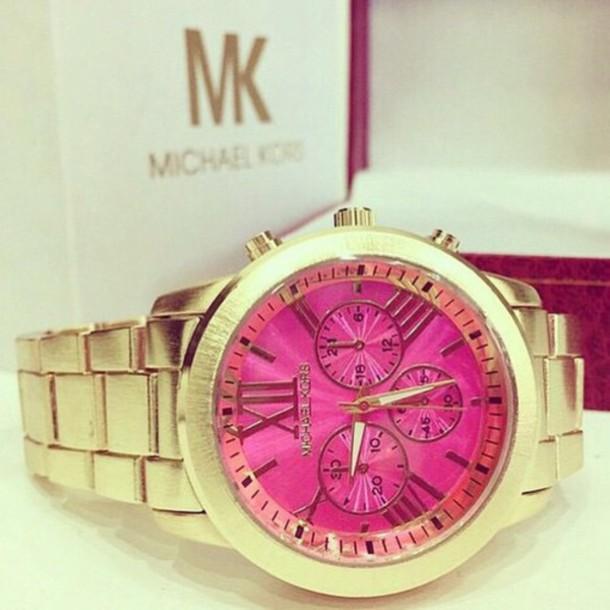 jewels gold watch micheal kors watch gold michael kors montre pink