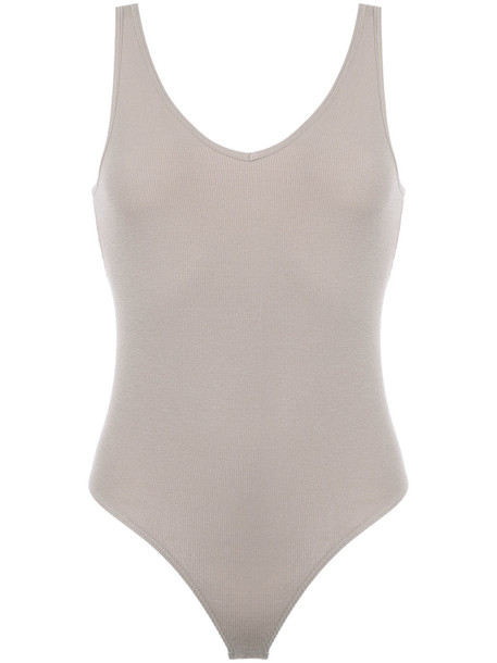 ATM Anthony Thomas Melillo bodysuit women spandex nude underwear