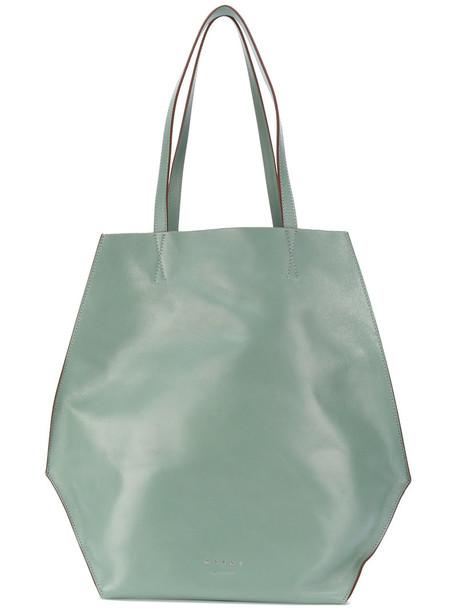 MARNI women leather green bag