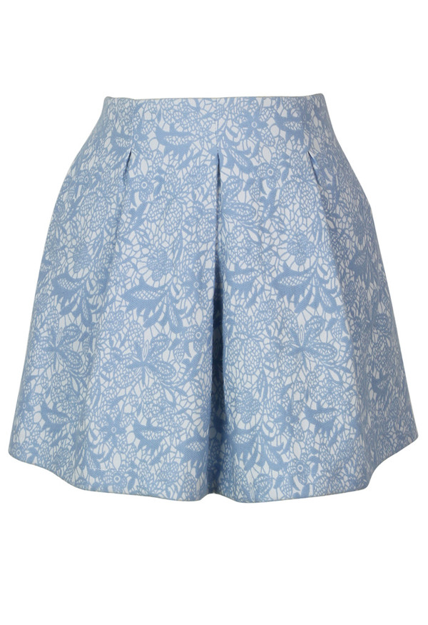 skirt blue texturized mini skater