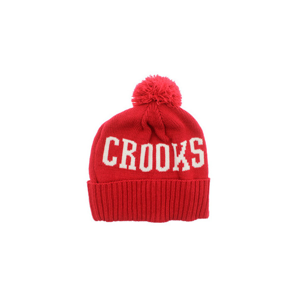 Crooks and Castles Logo Beanie (red)