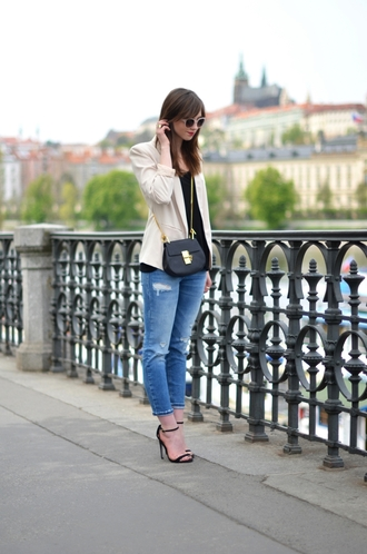 vogue haus blogger top jeans shoes bag jewels sunglasses