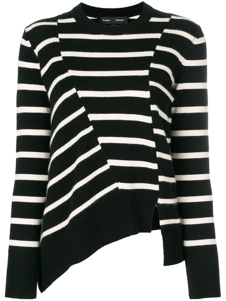 Proenza Schouler sweater striped sweater women cotton black